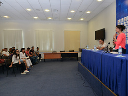 A meeting with club representatives