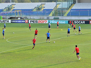 National team's open training for media. San Marino (photos)
