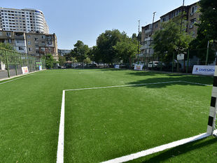 Another pitch with artificial turf in Baku (photo)