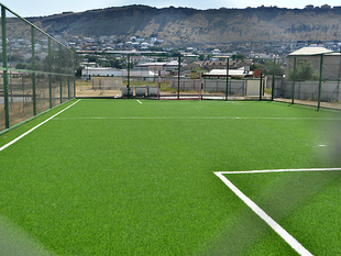 The pitch with artificial turf in Sabail district (photos)