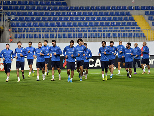 An open for media training session of Azerbaijan National team (photos)