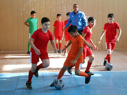 Football lesson in schools project in Gakh and Imishli (photos)
