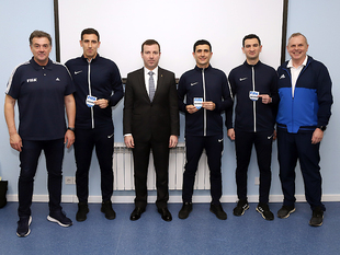 The badges were presented to the FIFA referees