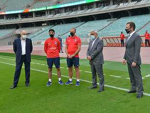 AFFA President met with national team (photos)