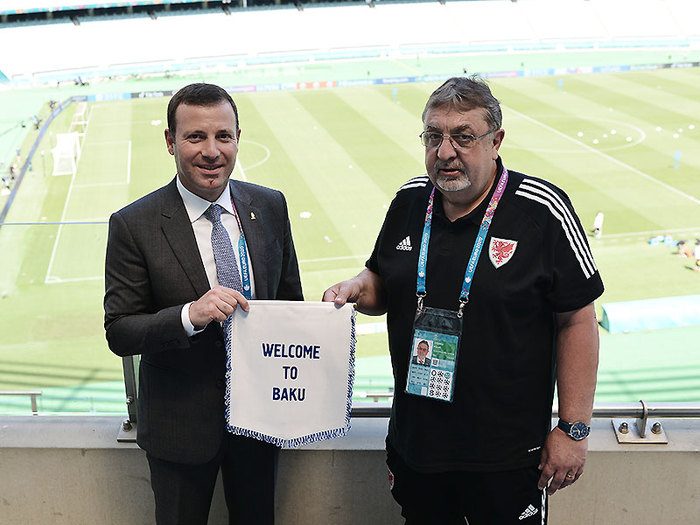 Elkhan Mammadov met with the President of the Wales FA