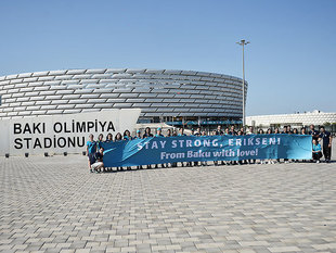 With love from Baku to Christian Eriksen